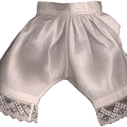 SOLD Antique Doll Pantaloons with Lace Edge