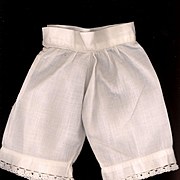 Antique Doll Pantaloons with Crochet Edge