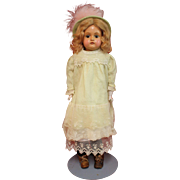 SOLD Antique Celluloid Doll Made by Kestner on Leather Body - Red Tag Sale Item