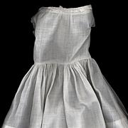 Antique White Cotton Doll Slip in Full Length