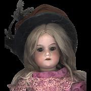 Antique Brown Silk Doll Hat