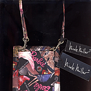 Vintage Nicole Miller Silk Barbie Print Purse with Tags