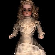 SOLD Antique Ecru Cotton Two Piece Doll Dress