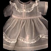 SOLD Vintage Light Pink Organdy Doll Dress