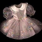 SOLD Vintage Pink Floral Print Doll Dress