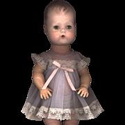 SOLD Vintage Light Blue Nylon Baby Doll Dress