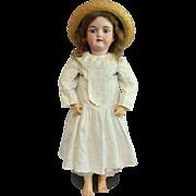 """Antique Bisque 28"""" Handwerck Child in Antique Child's Dress"""