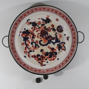 Antique, Soft Paste Ware, Gaudy Dutch, Warming Plate