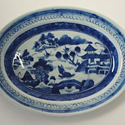 Antique: Canton Platter: Porcelain