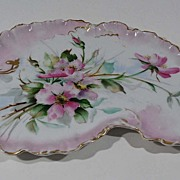 Antique Limoge Hand Painted Porcelain Tray, France