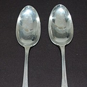 Antique: Two Large Sterling Silver Serving Spoons, Towle