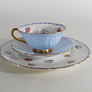 "Shelley Trio, ""Rose-Pansy & Forget-Me-Not"" pattern, Porcelain, China, Vintage"