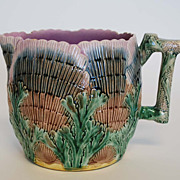 Antique Etruscan Majolica Shell & Seaweed Pitcher