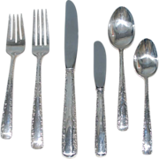 Vintage Sterling Silver Flatware Service for Twelve (12), Gorham, Six (6) Place Settings, plus