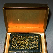 SOLD Mondaine Figural Book Compact, Excellent in Box