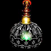 SOLD Gorgeous Victorian Art Glass & Enamel Perfume Atomizer