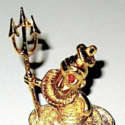 SALE Delightful Mamselle Pin--Clownish Neptune Rising From the Sea