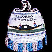 1800's Venetian Purse/Reticule/Bag —Micro Beaded Scenes — Rare —Excellent