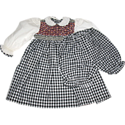 "PRISTINE Colorful Smocked Cotton Dress for 24-26"" Doll"