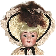 SALE Stunning Large Vintage Doll Bonnet