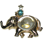 SALE Coro 1950 Adolph Katz Elephant and Raj Jelly Belly Pin--RARE