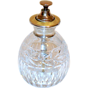 SALE Rare English Sterling Yellow Guilloche Perfume Atomizer Bottle
