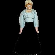 SALE Rare Art Deco Shoulder Head Doll, Original Costume