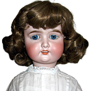 """SOLD Beautiful 28"""" German Doll, Perfect Head, Sturdy Body, Gorgeous Antique Dress"""