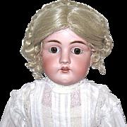 "REDUCED 29"" Kestner 154 Doll--Great Body, Amazing Antique Whitework Dress"