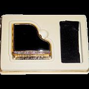 SALE Gorgeous Vintage Figural Grand Piano Powder Compact, MIBB