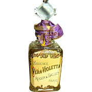"1892 Roger et Gallet ""VERA VIOLETTA"" Pure Perfume, Sealed Bottle"