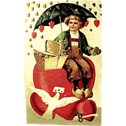 SALE HTF International Art Publishing Valentine Postcard--EXCELLENT (2 0f 2)
