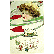 SOLD Winsch Schmucker Gorgeous Lady Swimmer Postcard