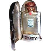 "SALE 50% SALE--Coty ""Paris"" Mini Perfume in Chrome Case—Minty"