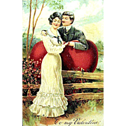 SOLD P.F.B. Valentine Postcard—Edwardian Courting Couple