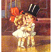 SOLD Tiny Tots English Valentine Postcard—Artist Signed