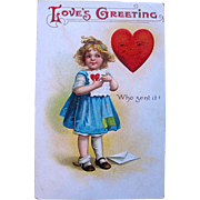 SALE IAP Clapsaddle Valentine Postcard—To My Sweetheart This is a signed Ellen H. Clapsaddle