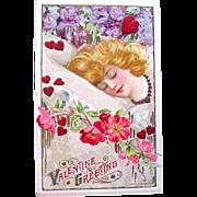 """SOLD Winsch-Schmucker Valentine Postcard— """"Valentine Greetings"""""""