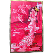 "SOLD Rare Tuck and Sons ""IDYLLS"" Series Valentine Postcard w Gold Heart Lock w Key"