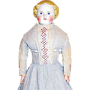 "Beautiful German 19th Century 20"" Parian Doll - All Original Garments"
