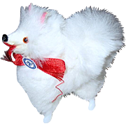 White Fur Spitz West German Dog for Fashion Dolls and Dollhouse