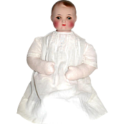 "SALE AM ""696-2"" Repainted Bisque Baby Head on Vintage Fleece Body"