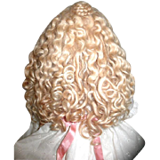 Vintage Custom Made Glorious Thick English Mohair Wig - Sz. 12