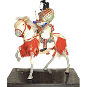 SALE Japanese Musha Ningyo Armored Samurai Warrior on Warhorse