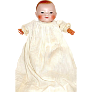 """Superb 10"""" Bye-lo Baby Doll— Brown Sleep Eyes, Marked Chest, All Orig. Costume"""