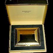 SALE Gorgeous Unused 14kt Gold Plated Richard Hudnut Vanity Compact, MIB