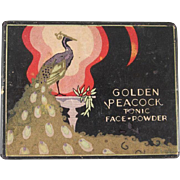 Golden Peacock Tonic Face Powder Box Nice Graphics