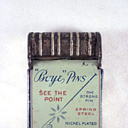 Early Tin Litho Boye Pins Box with Pins