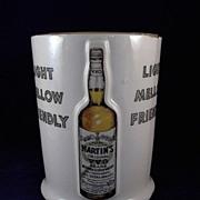 SALE Vintage Martin's Original V.V.O. Brand Whiskey Ceramic Counter Display Holder