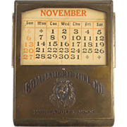 Commander Mill Co. Premium Bill Clip with Perpetual Calender